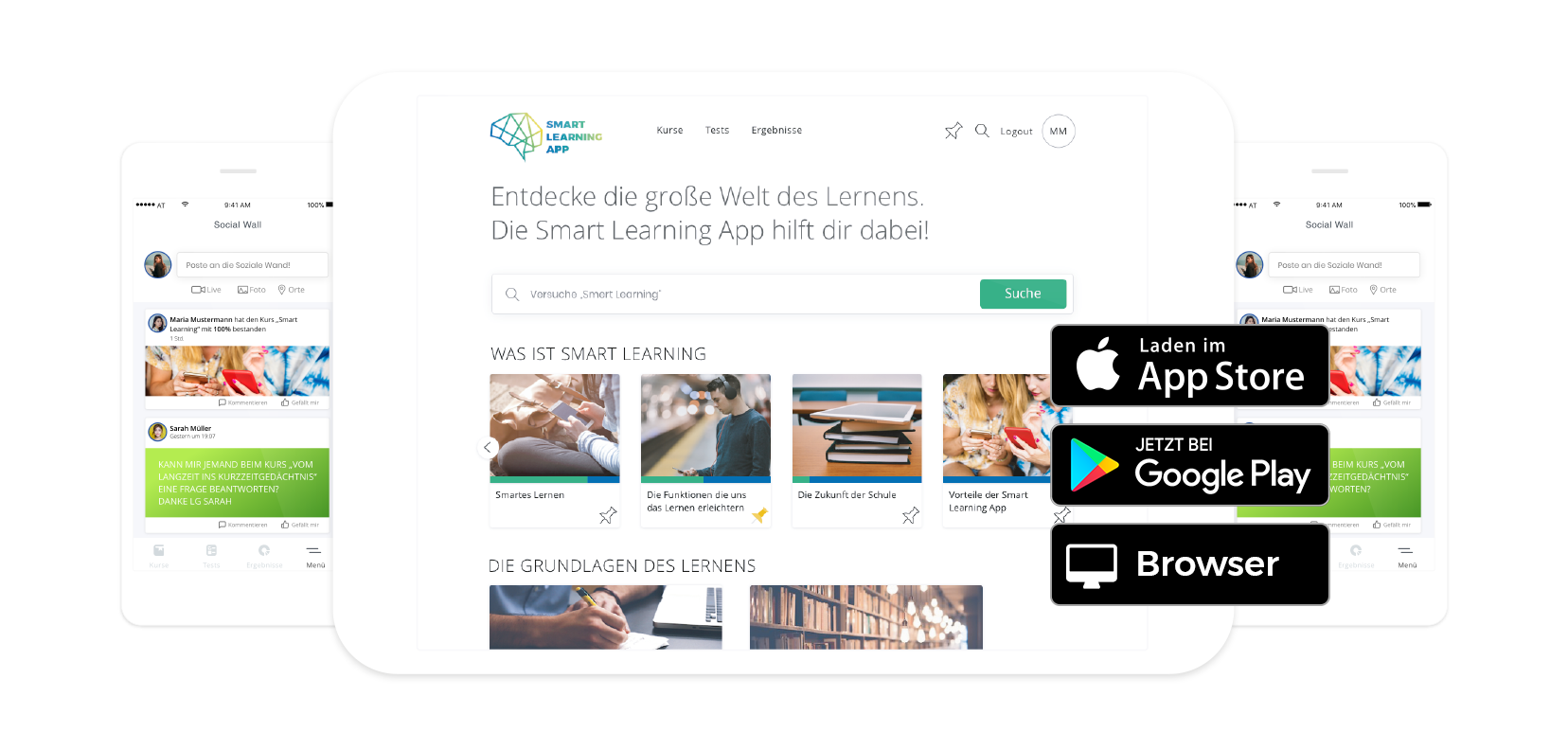 Headerbild Smart Learning Funktionen
